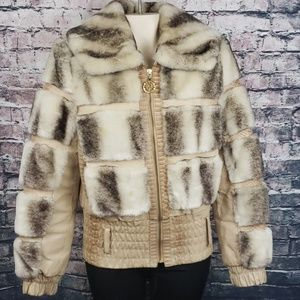 Baby Phat Faux Fur and Snakeskin Jacket Medium